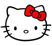 Hello Kitty face darwing