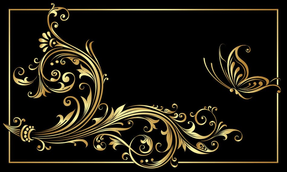 Beautiful black and gold design clipart