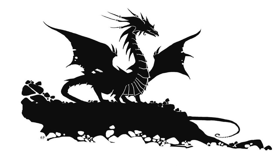 Dragon Silhouette drawing