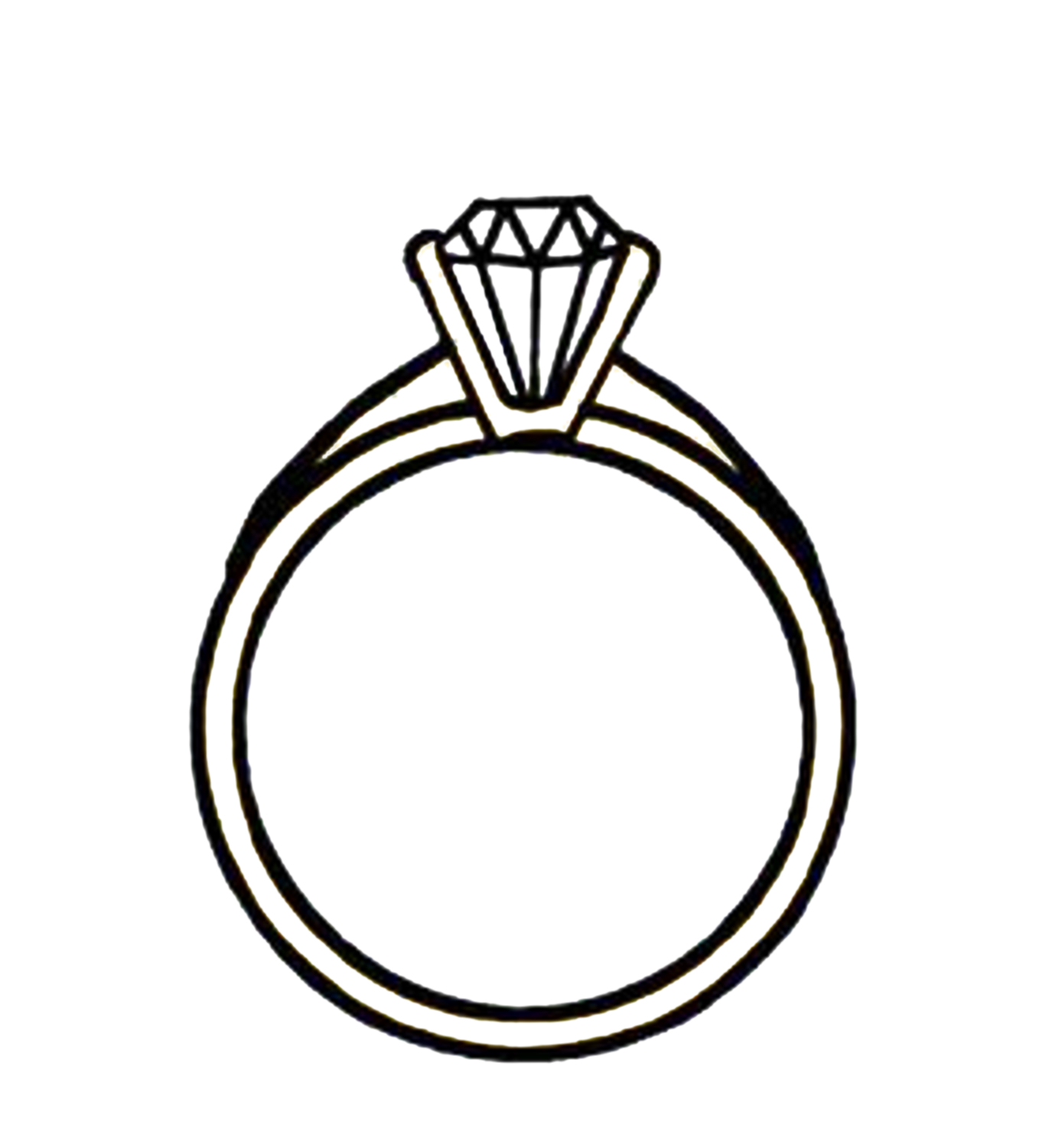 Black And White Drawing Of The Beautiful Wedding Ring Clipart Free Image