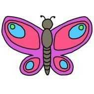 Clip art of colorful Butterfly