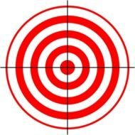 Shooting Target red Clip Art drawing