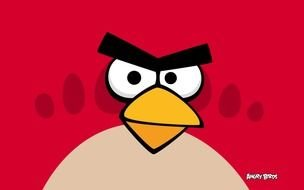 red Angry Birds Clip Art drawing