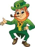Clipart of elf for St Patricks Day