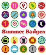 Clip Art Kids Badges