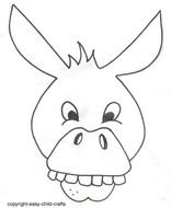 donkey ears printable template free image
