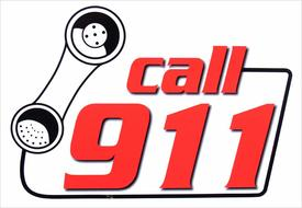 Call 911 as a picture for clipart