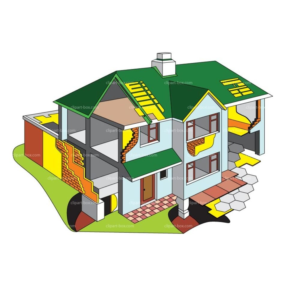 House Plan Clip Art drawing