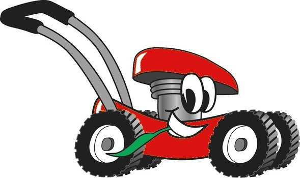 Animated Lawn Mower drawing