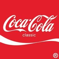 Coca Cola Logo red white drawing