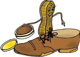 Clip art of shoe cleaner