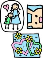 Love of Mother clipart