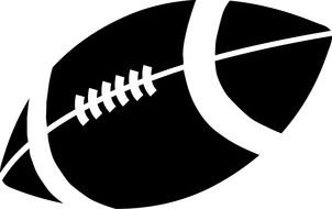 Black and white football ball clipart