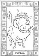 coloring page with Pumbaa