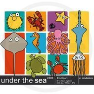 Under The Sea Clipart Pack With Illustrations Octopus Horse