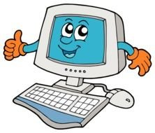 funny Computer Clip Art drawing