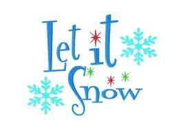 Let It Snow drawing
