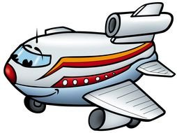 funny Airplane Clip Art drawing