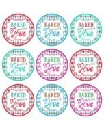 Baked With Love Tag Free Printable drawing