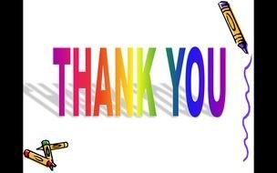 Clipart of Thank You slide