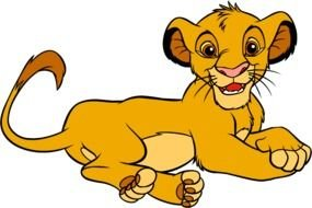 disney lion cub as picture for clipart