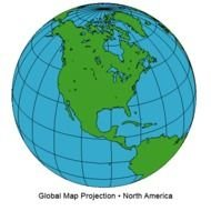 Globe North America Map