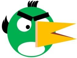 Green Bird Toucan from Angry Birds Game