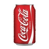 isolated can of Coca Cola