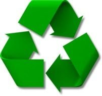 isolated green recycle symbol