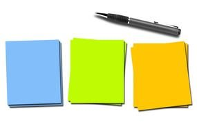 Clip Art of Colorful Notes