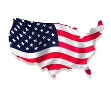 Clipart of USA Flag Map