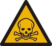 clipart of the Toxic Warning Sign