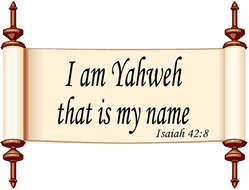 clipart of the I AM Yahweh text