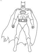Printable Batman Coloring Pages For Kids drawing