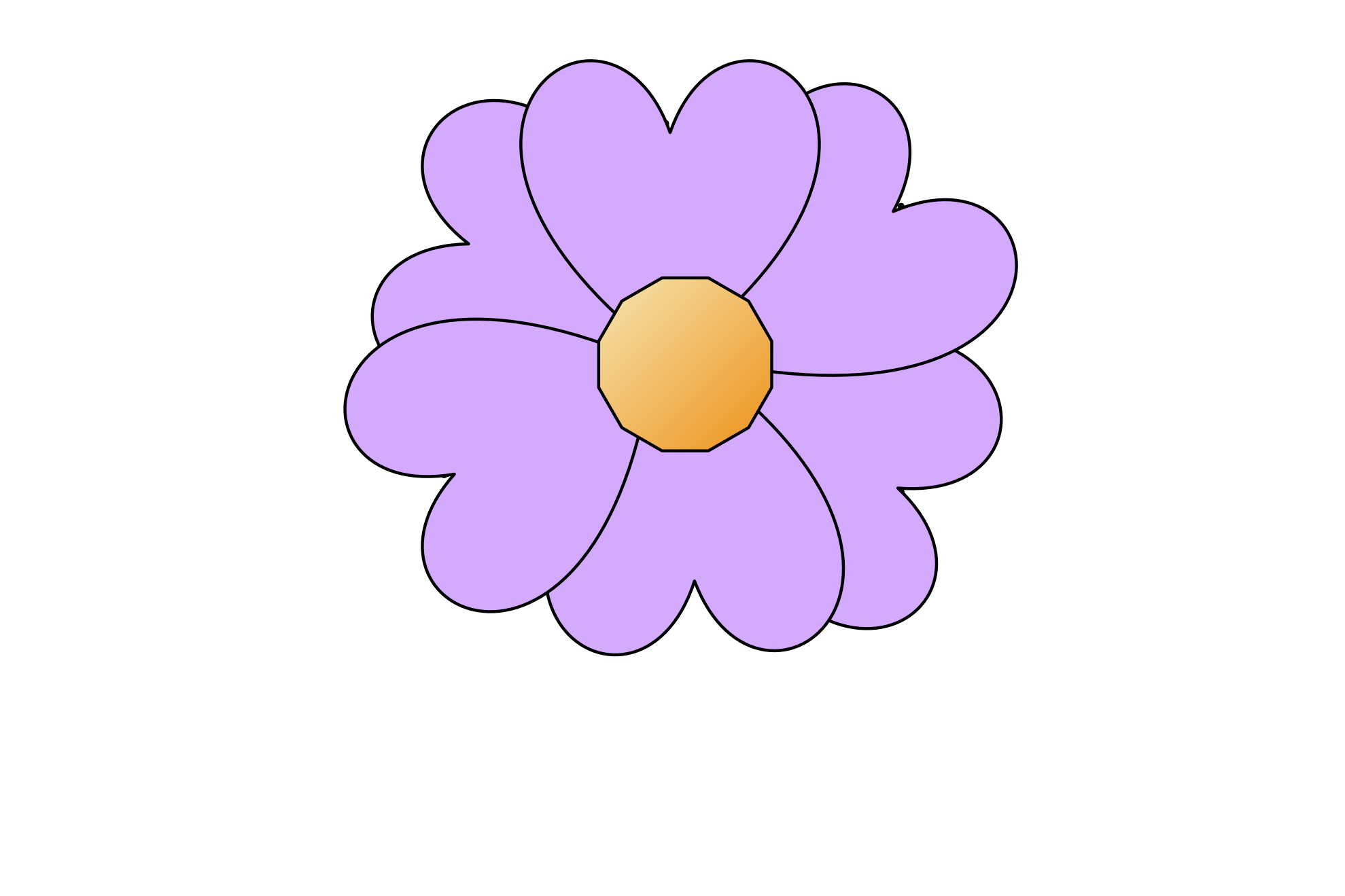 Simple Flower Clip Art Drawing Free Image