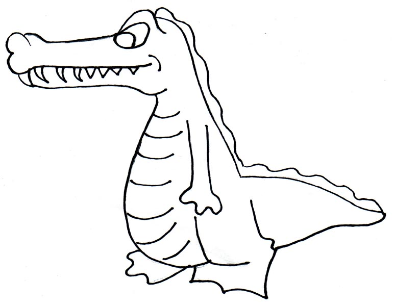 Crocodile Coloring Pages Printable Free Image Download