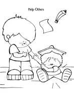 Helping Others Coloring Pages drawing
