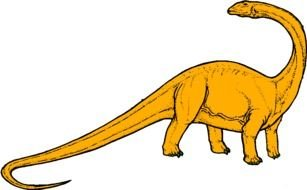 orange Dinosaur Clip Art drawing