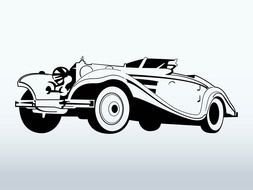 Clipart of Classic Car