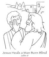 Jesus Heals The Paralytic Coloring Page drawing free image