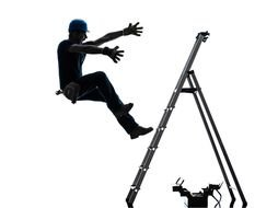 Man Falling Off Ladder drawing