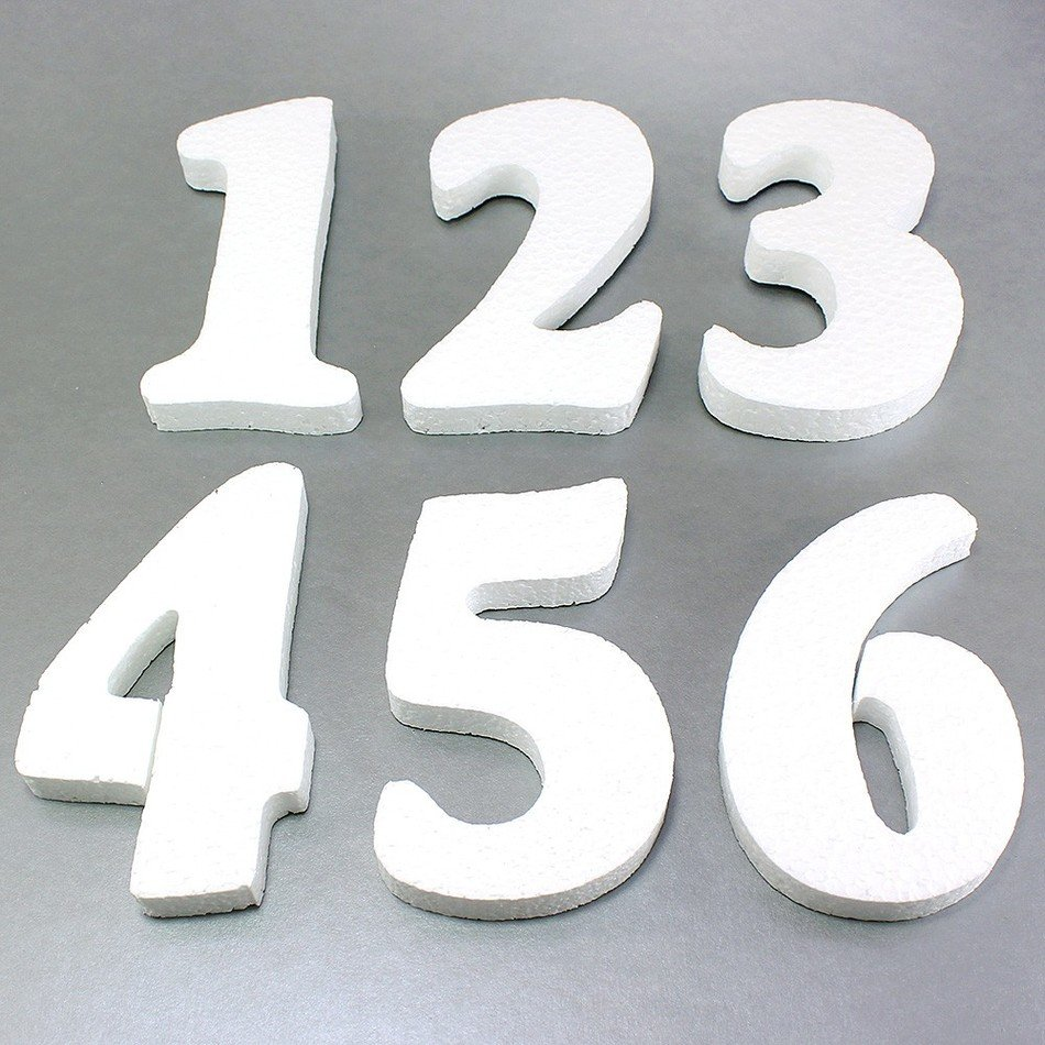Foam Letters And Numbers clipart