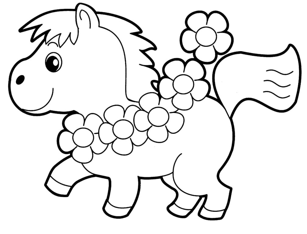 Baby Animals Coloring Pages Drawing Free Image