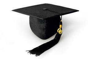 black velvet graduation hat