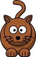 cartoon brown cat