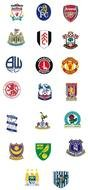 different logos of English sports clubs as graphic elements for clipart