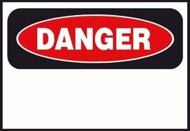 Danger Sign Clip Art drawing