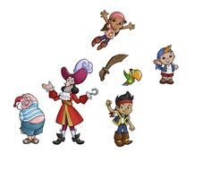 Jake And Neverland Pirates, cartoon Characters