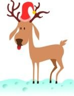 Colorful Cartoon Reindeer Clipart
