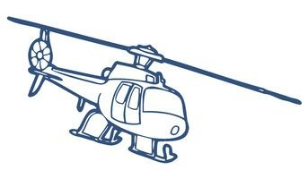 cartoon Helicopter drawing